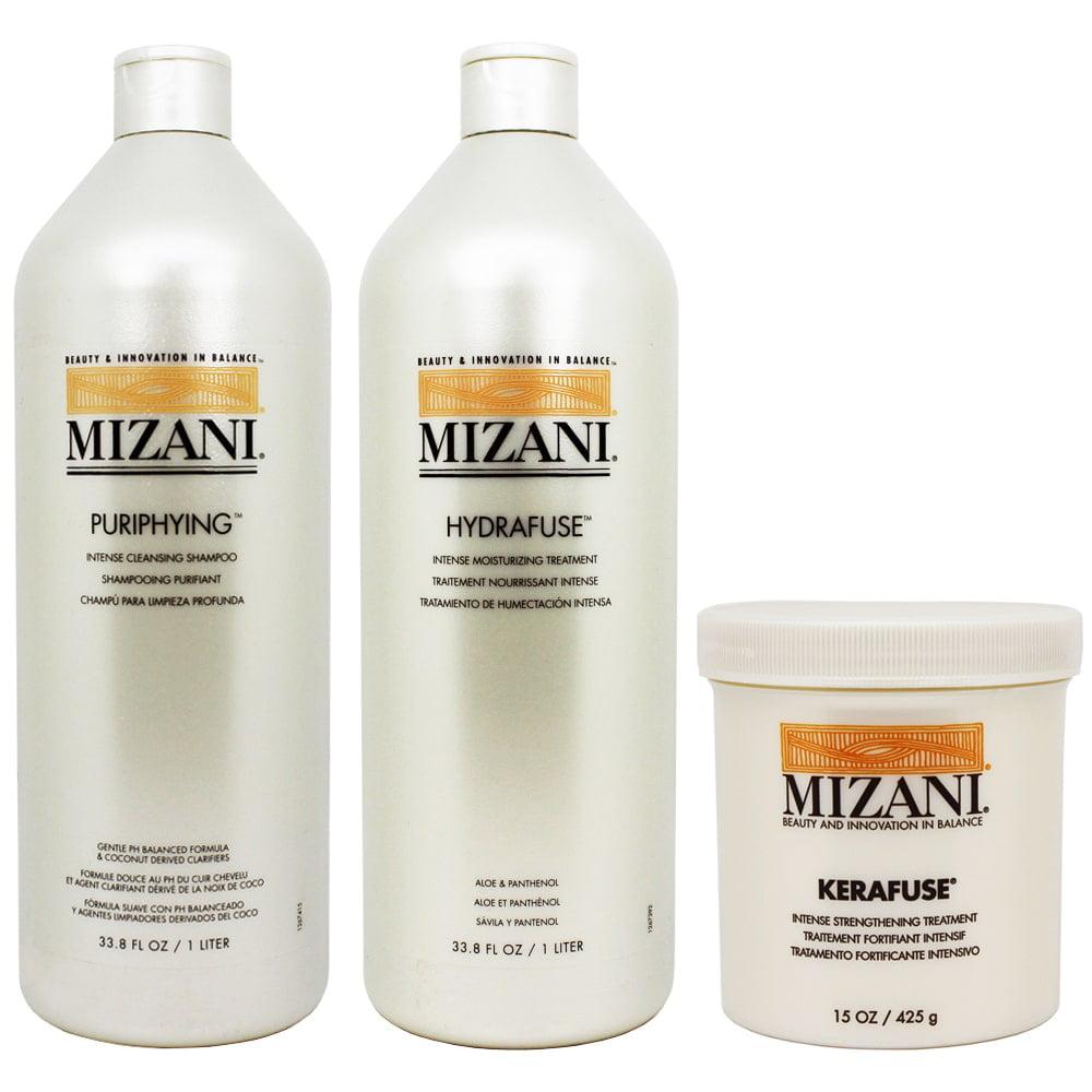 Mizani  Purifying Shampoo, Hydrafuse Treatment, and Karafuse Treatment (Set of 3)