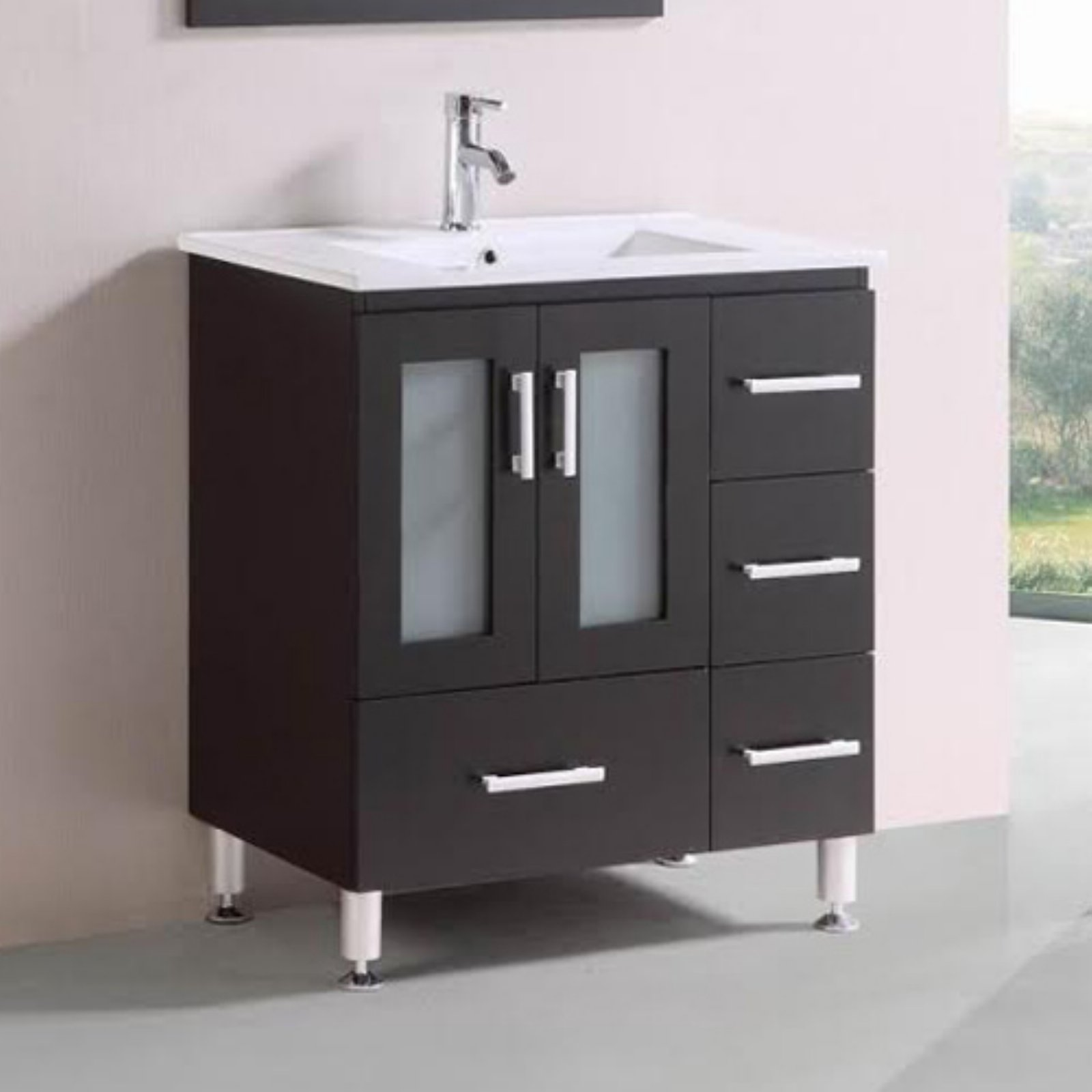 Belvedere 30 in. Modern Freestanding Single Bathroom Vanity by Overstock