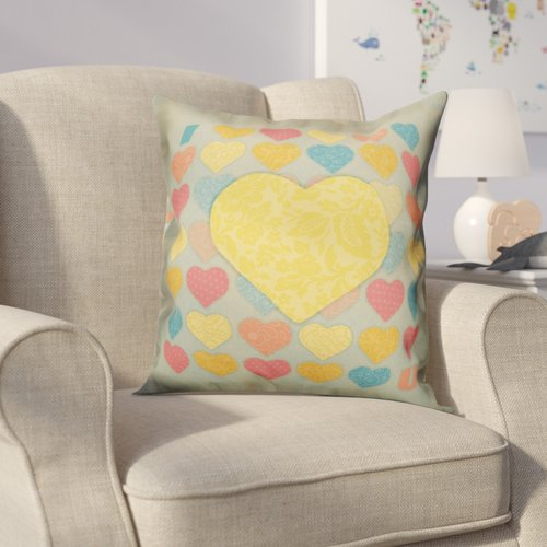 Zoomie Kids Hartranft I Heart You Throw Pillow