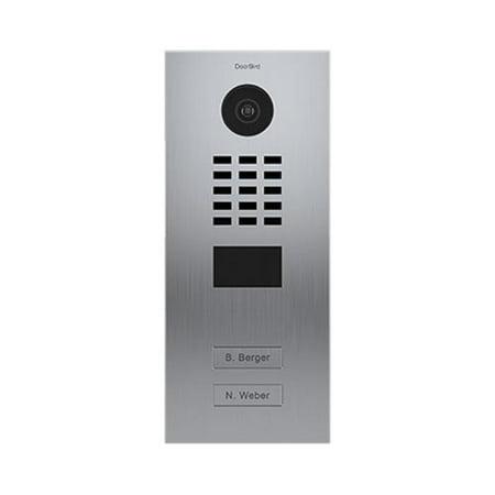 DoorBird IP Video Door Station D2102V, Flush-mounted, - 2 Call Buttons STAINLESS STEEL (V4A)