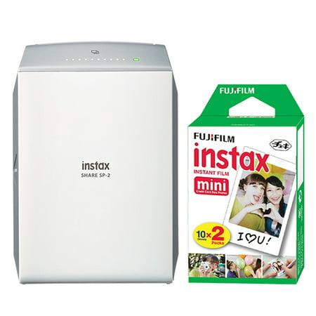 Fujifilm Instax Share Smartphone Fuji Instax Printer Sp 2 Silver 20 Instant Film