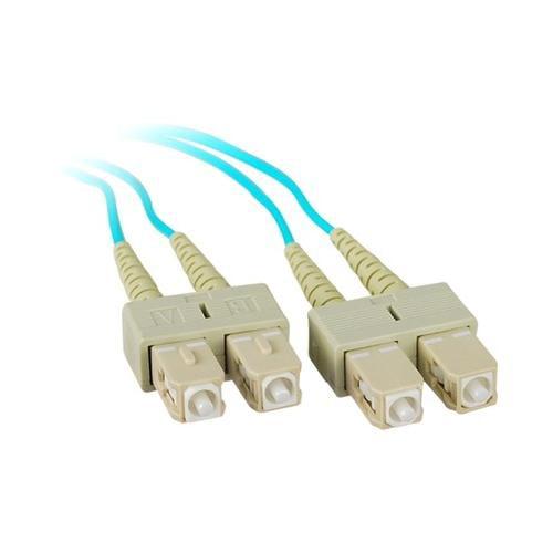 Siig SIIG 2M 10Gb Aqua Multimode 50/125 Duplex Fiber Patch Cable SC/SC 2PG8655