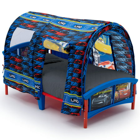 Delta Children Disney Pixar Cars Plastic Toddler Canopy Bed Blue