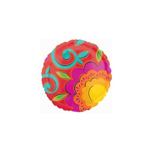 Amscan 203175 Caliente Flowers Foil Balloon