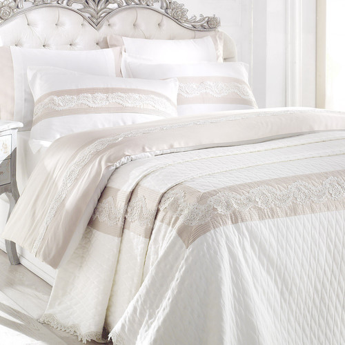 Debage Inc. City Sleep Lotus 7 Piece Queen Duvet Cover Set