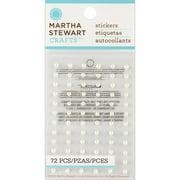 Martha Stewart Dimensional Stickers-whit