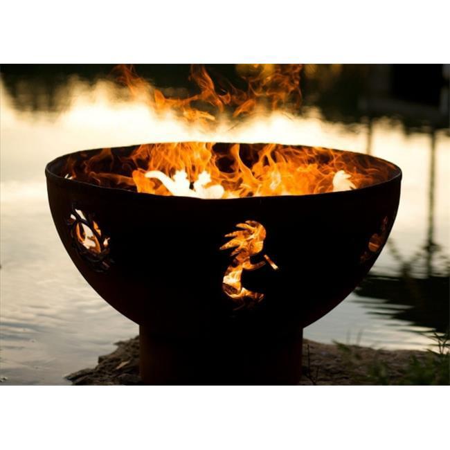 Fire Pit Art KO 36 in. Kokopelli Wood Burning Fire Pit
