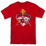 Mighty Morphin Power Rangers Retro Rangers Mens Short Sleeve Shirt