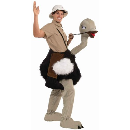 Ride On Ostrich Adult Halloween Costume, 1 Size - Working On Halloween