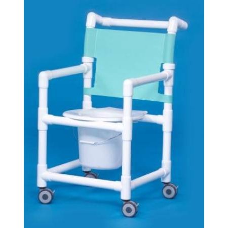 PVC Shower Commode Chair with Mesh Backrest