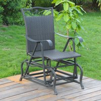 International Caravan Valencia Resin Wicker/ Steel Glider Chair