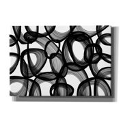 "Epic Graffiti 'Abstract Black and White 2015' by Irena Orlov, Giclee Canvas Wall Art, 26""x18"""