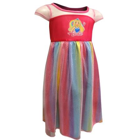 Girls' Barbie Pajama Nightgown (Little Girl & Big