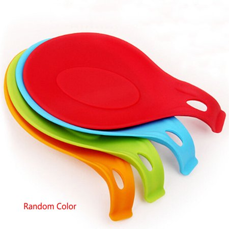 Dishwasher Safe Silicone Spoon Rest (Multipurpose Silicone Spoon Rest Pad Food Grade Silica Gel Spoon Put Mat)