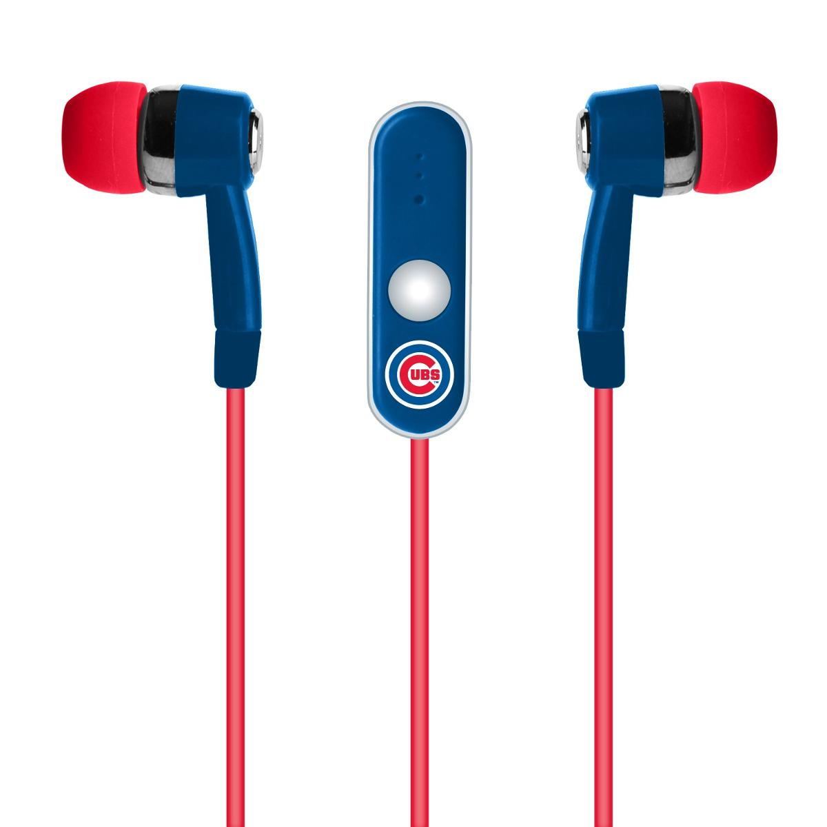 Mizco Chicago Cubs Stereo Hands Free Earbud - MLB-STHF-CUBS