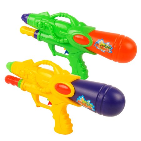 Plastic Nozzle Squirt Gun Water Shooters Air Pressure Funny Gun Toy for Kids - Color Random