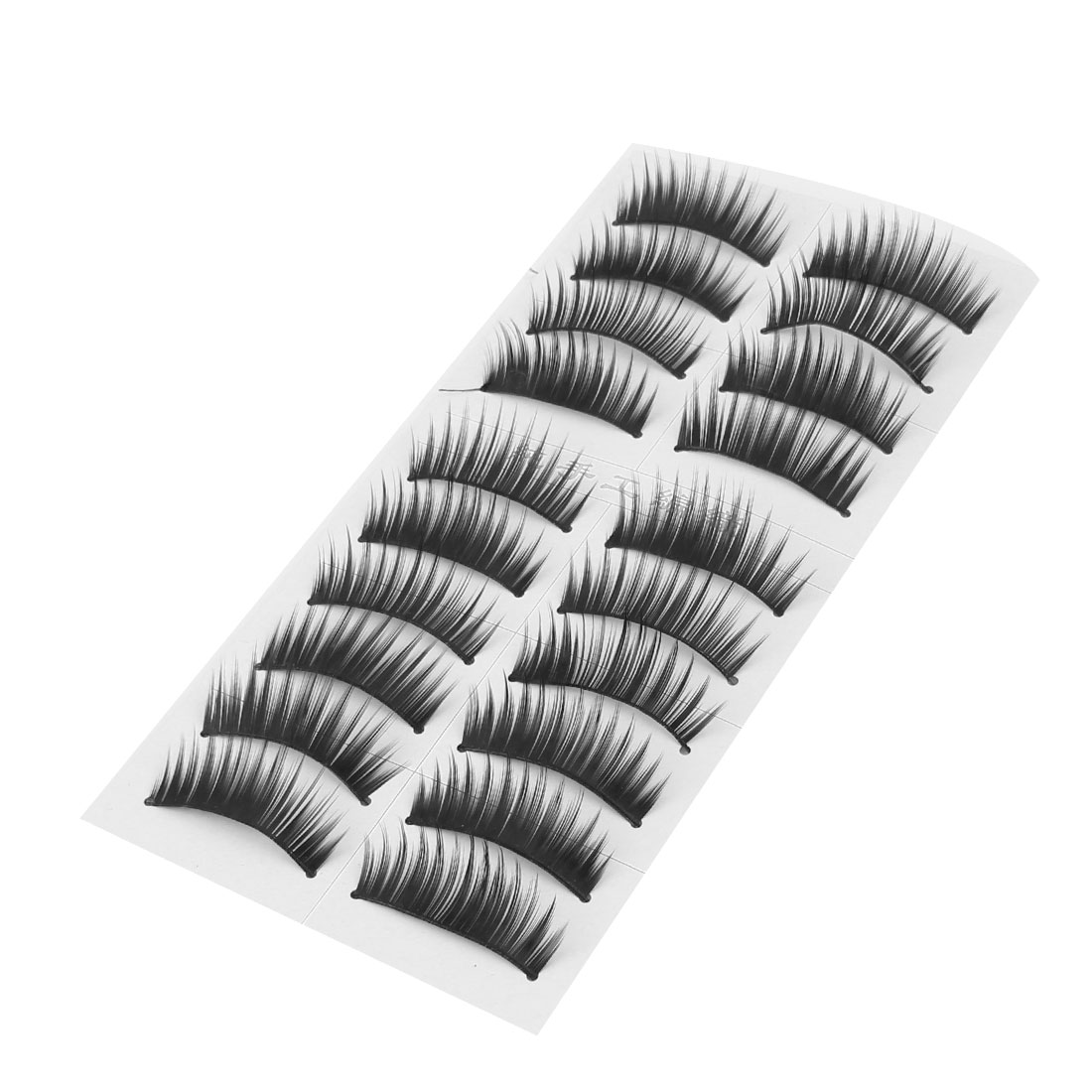 Unique BargainsLady Girl Makeup Tool False Fake Eye Lashes Eyelashes Black 32 x 15mm 10 Pairs