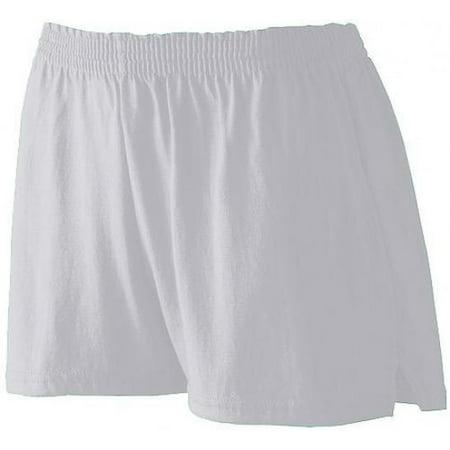 Augusta Ladies' Trim Fit Jersery Short S ASH (Ash City Ladies Short)
