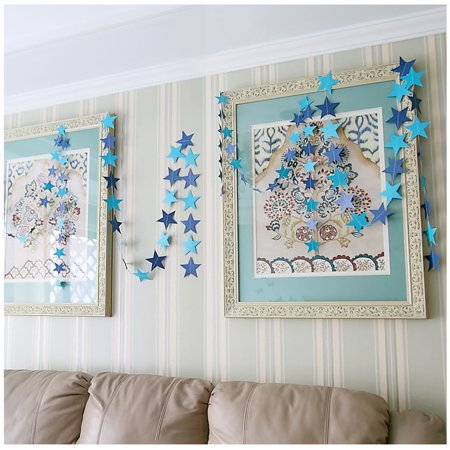 Paper Garland Strings Star Shape Wedding Party Bridal Home Hanging Decoration