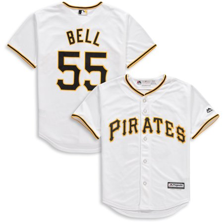 Josh Bell Pittsburgh Pirates Majestic Youth Home Official Cool Base Player Jersey - (Josh Smith Jersey)