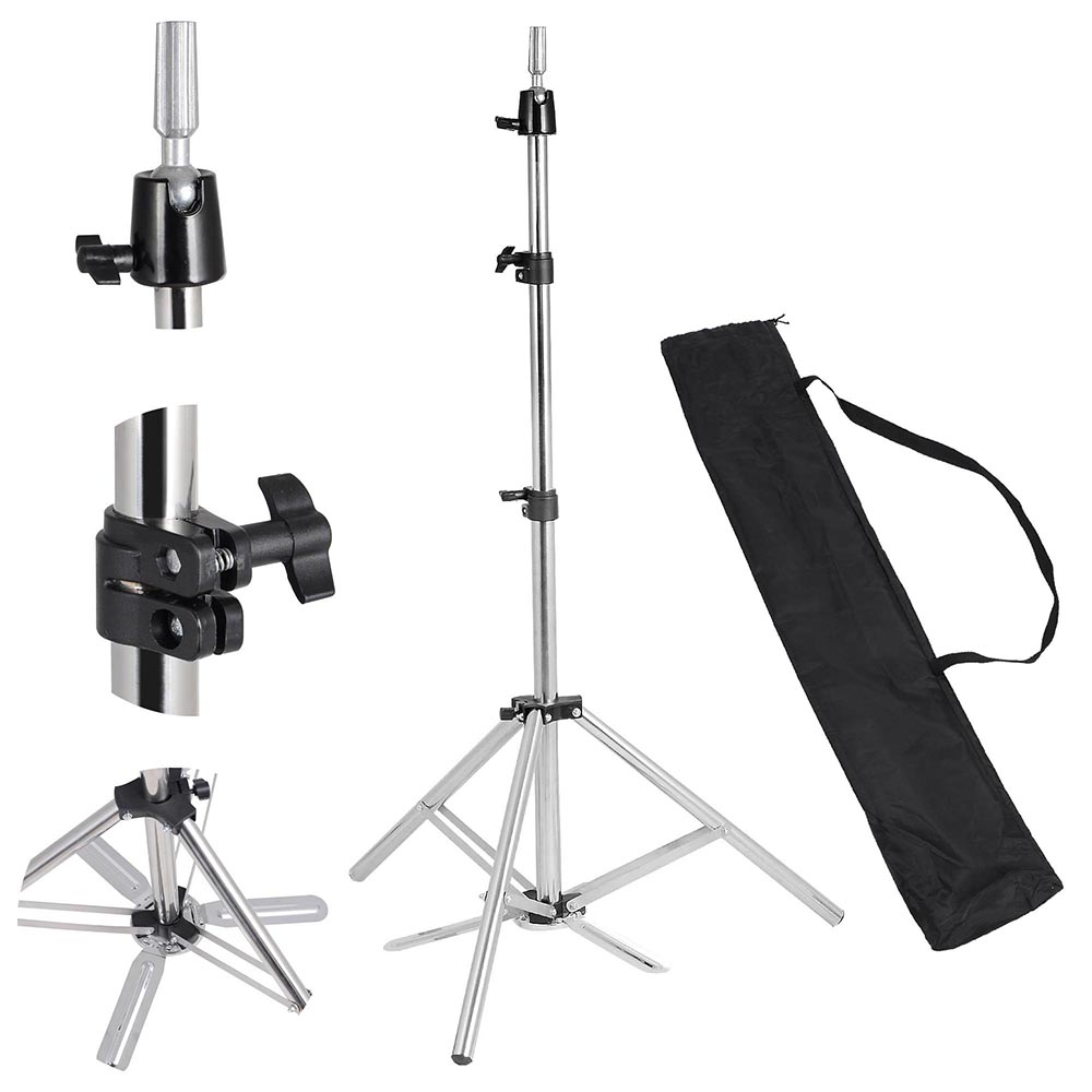 """Hair Salon Adjustable 63"""" Stainless Steel Tripod Stand Cosmetology Mannequin Training Head Holder Hairdressers Trainees"""