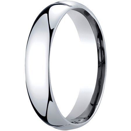- Mens Platinum, 5mm Slim Profile Comfort-Fit Wedding Band
