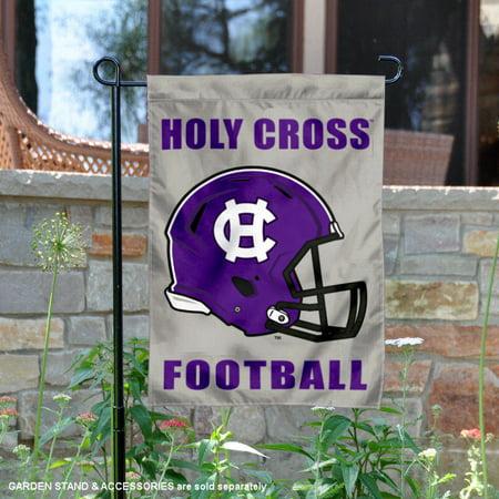 Holy Cross Crusaders Football Helmet Garden Yard (Crusaders Football)
