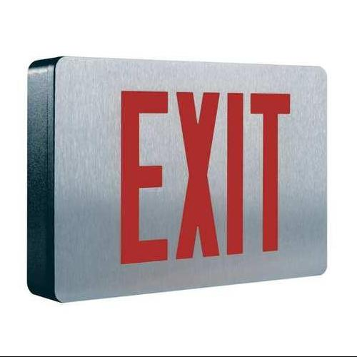 COOPER LIGHTING CX61 Exit Sign,1.0W,Red/Green,1 Face