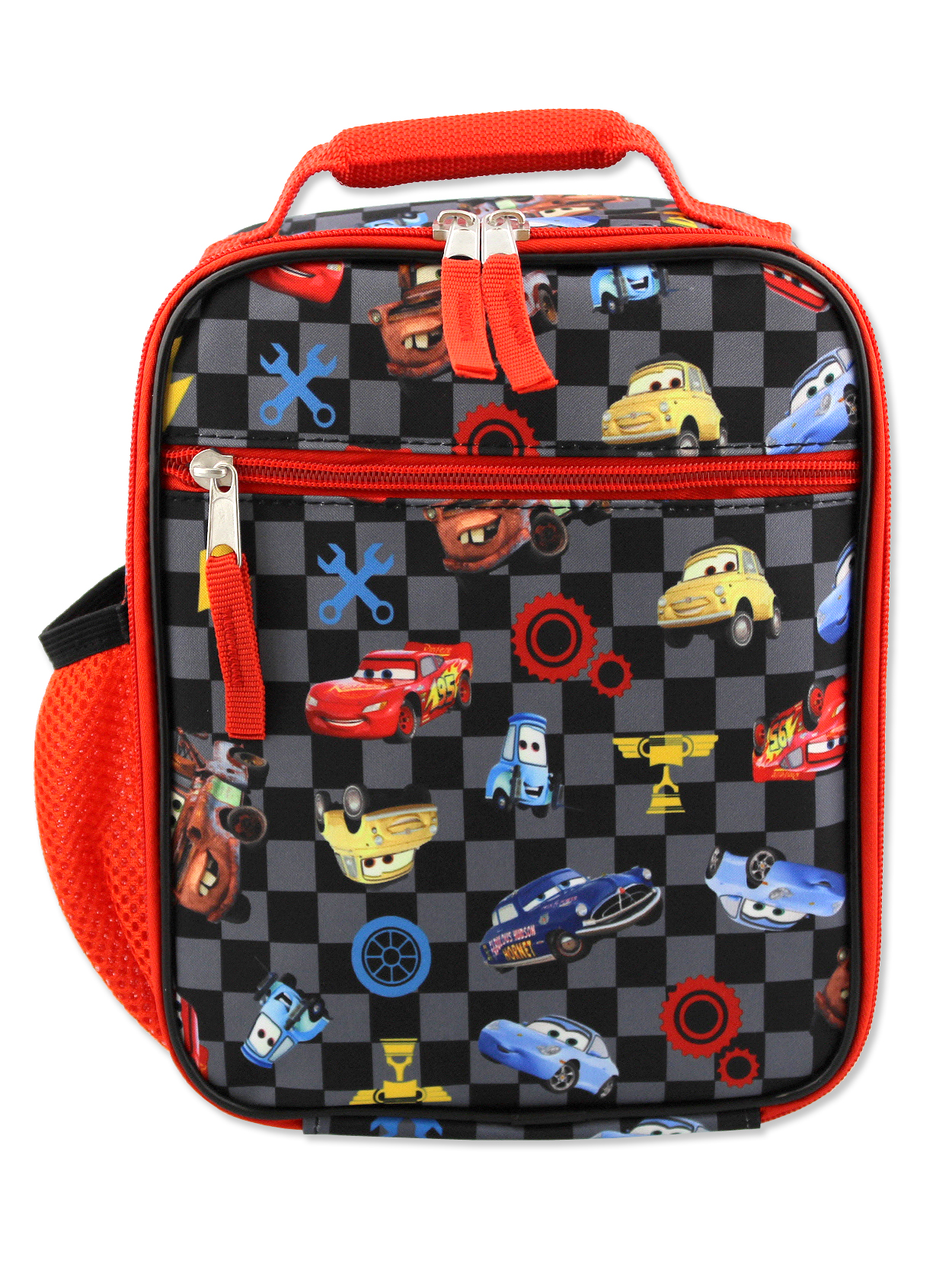 """Disney Cars McQueen /& Hudson Large Back to School Canvas Backpack Book Bag 16/"""""""