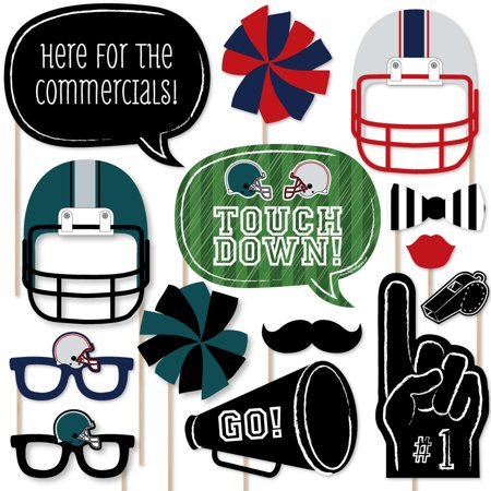 Super Bowl Party   Photo Booth Props Kit   20 Count