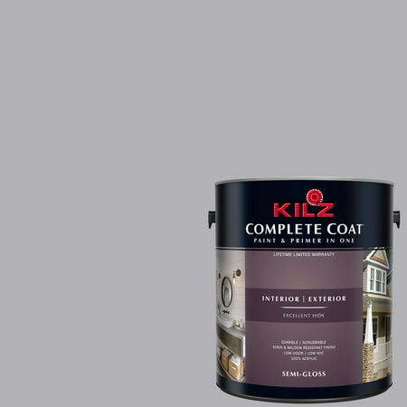 Hippopotamus Gray, KILZ COMPLETE COAT Interior/Exterior Paint & Primer in One,