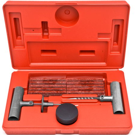 Biltek 36 Pc Tire Repair Tool Kit Case Plug Patching Tubeless Tires Insert Spiral (Best Tubeless Tire Repair Kit)