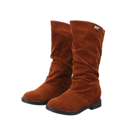 Womens Shoes Riding Boots High Fashion Slouch Flat Heel Boot Hot Stylish Shoes Size 8 (Hot Widow Boots)