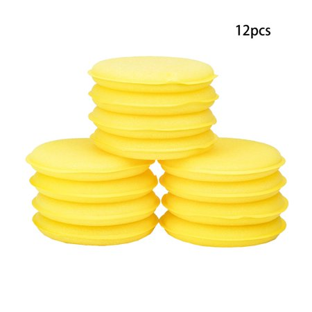 12pcs Sponges Car Wash Detailing Wax Polish Foam Sponge for Car Glass Washing - image 1 of 6