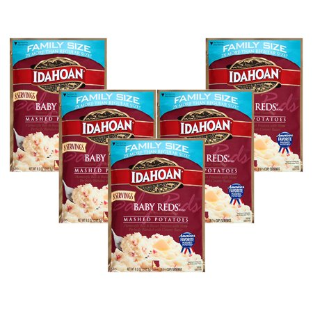 ((5 Pack) Idahoan Baby Reds Mashed Potatoes, 8.2 oz)