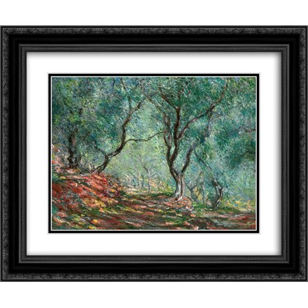 Claude Monet 2x Matted 24x20 Black Ornate Framed Art Print 'Olive Tree Wood in the Moreno Garden' - Olive Tree Wood