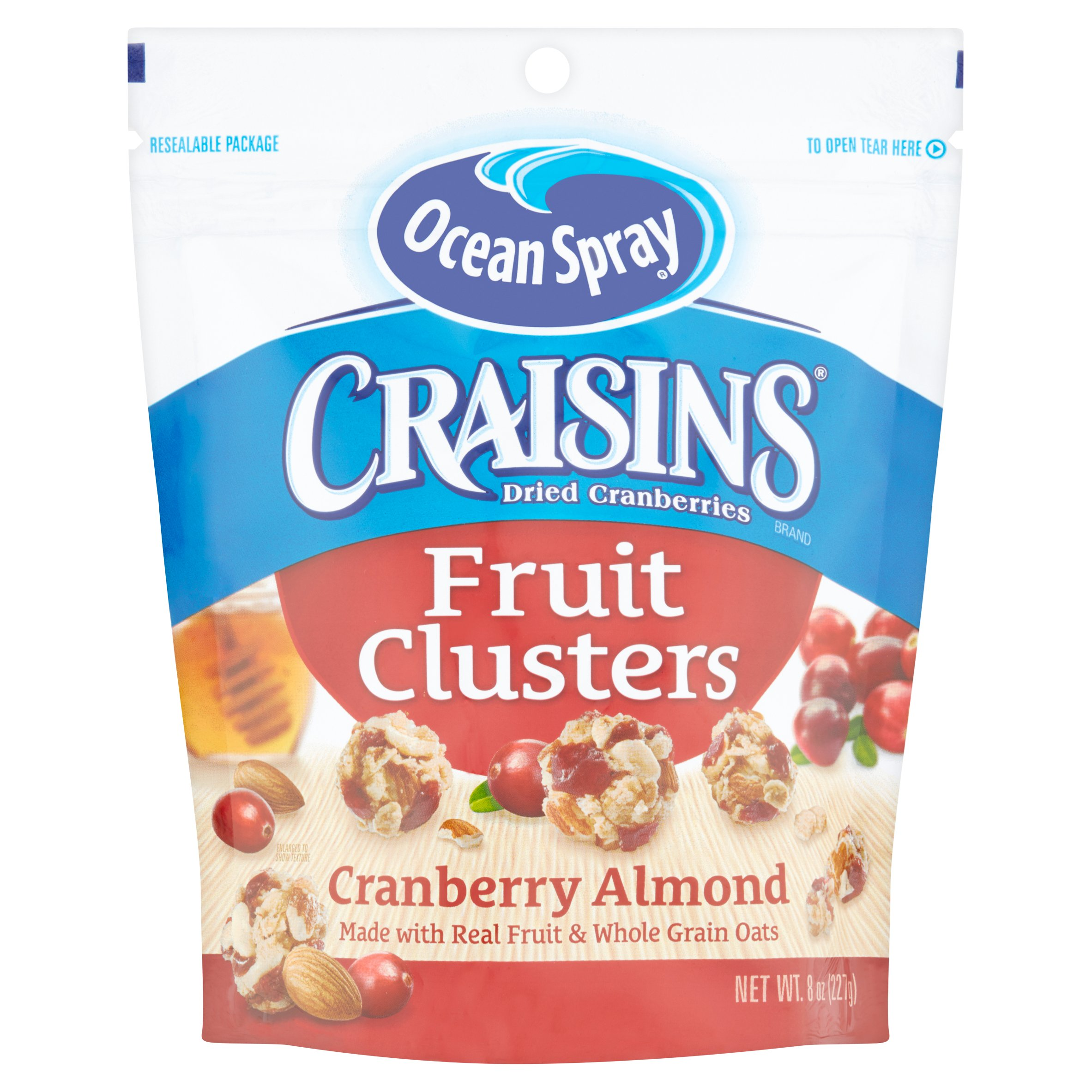 Craisins Cranberry Almond Dried Cranberries Fruit Clusters 8 oz. Bag by Ocean Spray Cranberries, Inc.