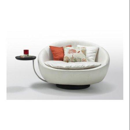 Vig Furniture Vgwcgaalba Divani Casa Alba Modern Leatherette Swivel Round Lounge Chair