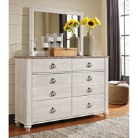 Signature Design by Ashley Willowton 6 Drawer Dresser with Optional Mirror