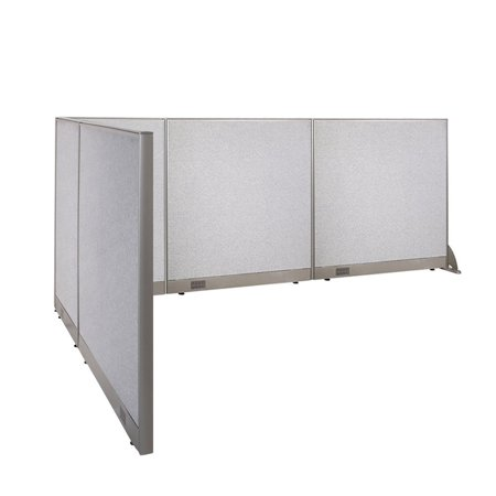 - GOF L-Shaped Freestanding Office Panel Cubicle Wall Divider Partition 78D x 126W x 48H / Office, Room Divider