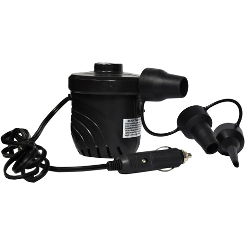 Rave Sport Ski and Tow Ropes High Pressure 12V Cigarette Lighter Pump, Black