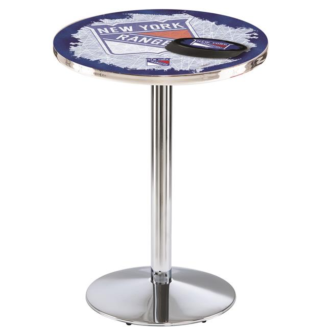 Holland Bar Stool L214C4236NYRang 42 in. New York Rangers Pub Table with 36 in. Top, Chrome - image 1 de 1