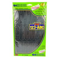 "Hy-Ko 3"" Vinyl Self-adhesive Black Letters and Numbers Kit, 184 Pieces"