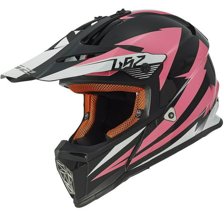 LS2 Helmets Fast Mini Race Youth Full Face MX Motorcycle Helmet (Pink, Medium)