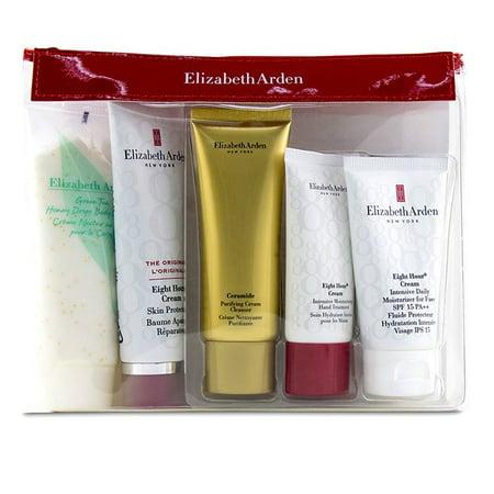 Elizabeth Arden Daily Beauty Essentials Set: Purifying Cream Cleanser+ Eight Hour Cream+ Eight Hour Cream SPF 15+ Ei