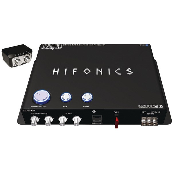 Hifonics BXIPRO20 Digital Bass Enhancement Processor Dash Mount Remote Control