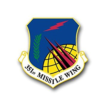 "MAGNET US Air Force 351st Missile Wing Decal Magnetic Sticker 3.8"" 6-Pack"