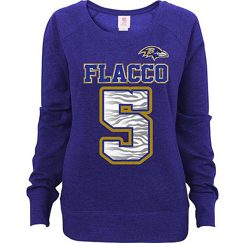 NFL Juniors Baltimore Ravens Flacco Scoop Neck Sweatshirt