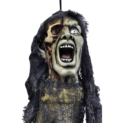 "20"" Hanging Head with Open Mouth Halloween Accessory"