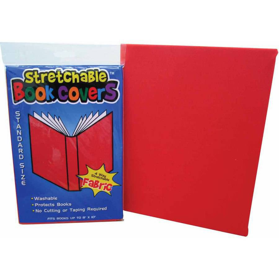 School Specialty Water Repellant Fabric Book Covers, Assorted Colors, Box of 24